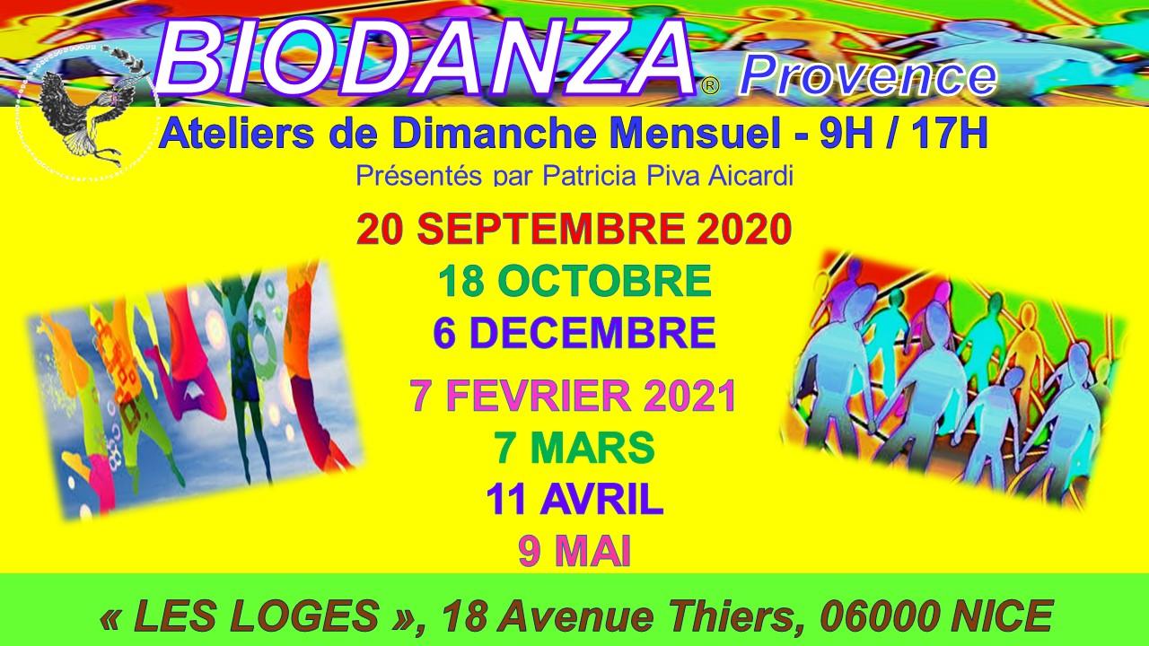 Atelier de biodanza à Nice, 1 dimanche par mois
